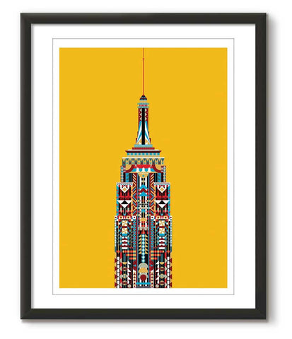 Multicolour Empire State Building - Yellow - Great Little Place Store - 1