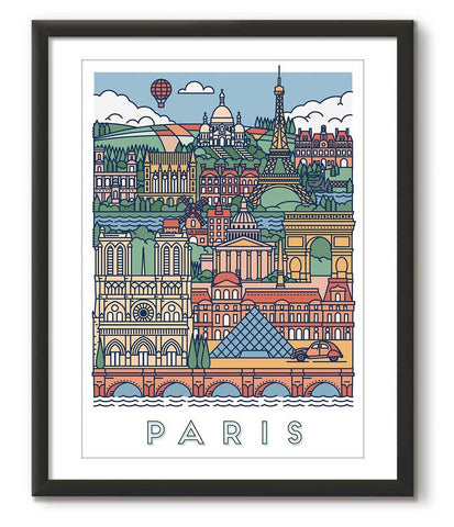 Graphical Poster of Paris - Great Little Print Store