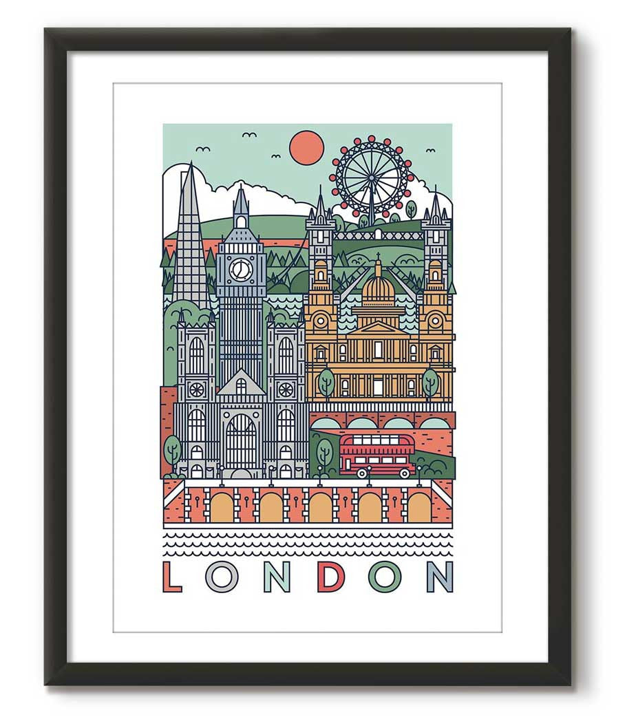 Grason Graphical Poster of London