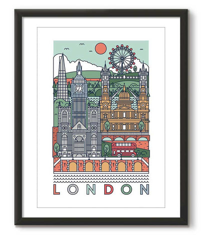 Grason Graphical Poster of London - Great Little Print Store