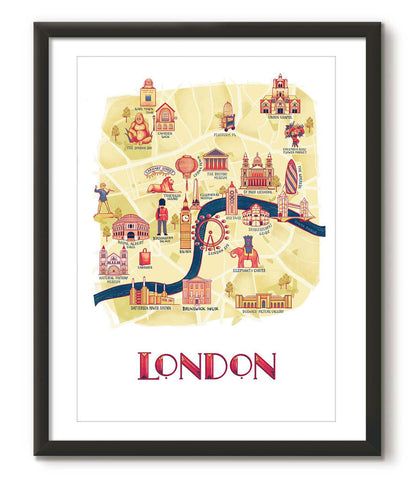 Illustrated Map of London - Great Little Place Store - 1