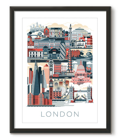 London Illustrated - Red - Great Little Place Store - 1
