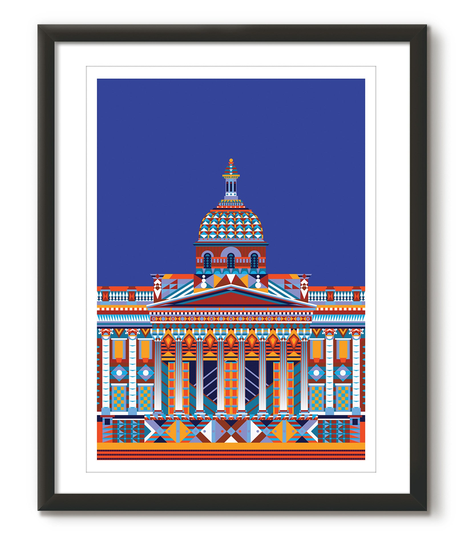 Multicoloured National Gallery - Navy Blue