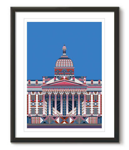 Multicoloured National Gallery - Light Blue - Great Little Print Store