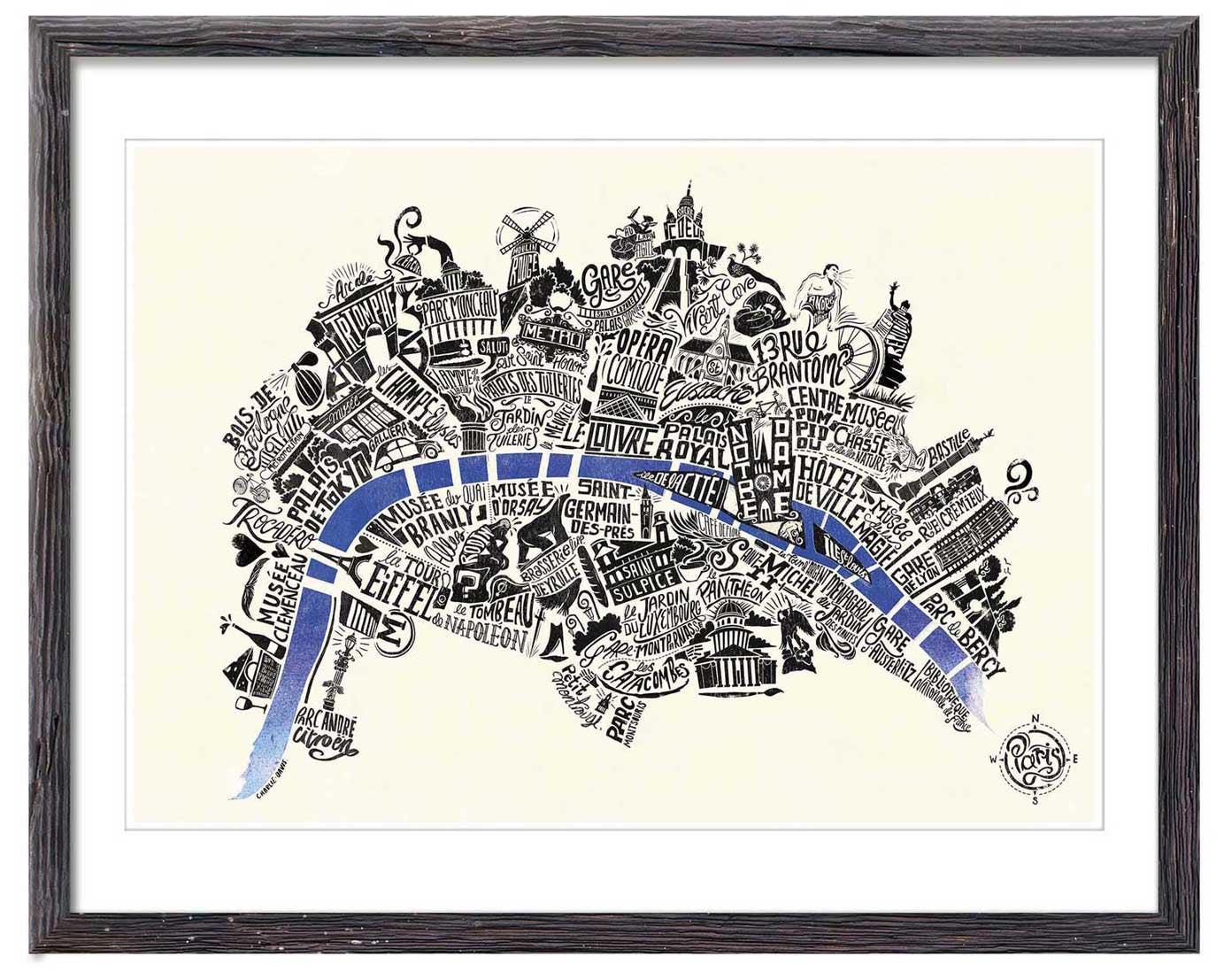 Typographical Map of Paris