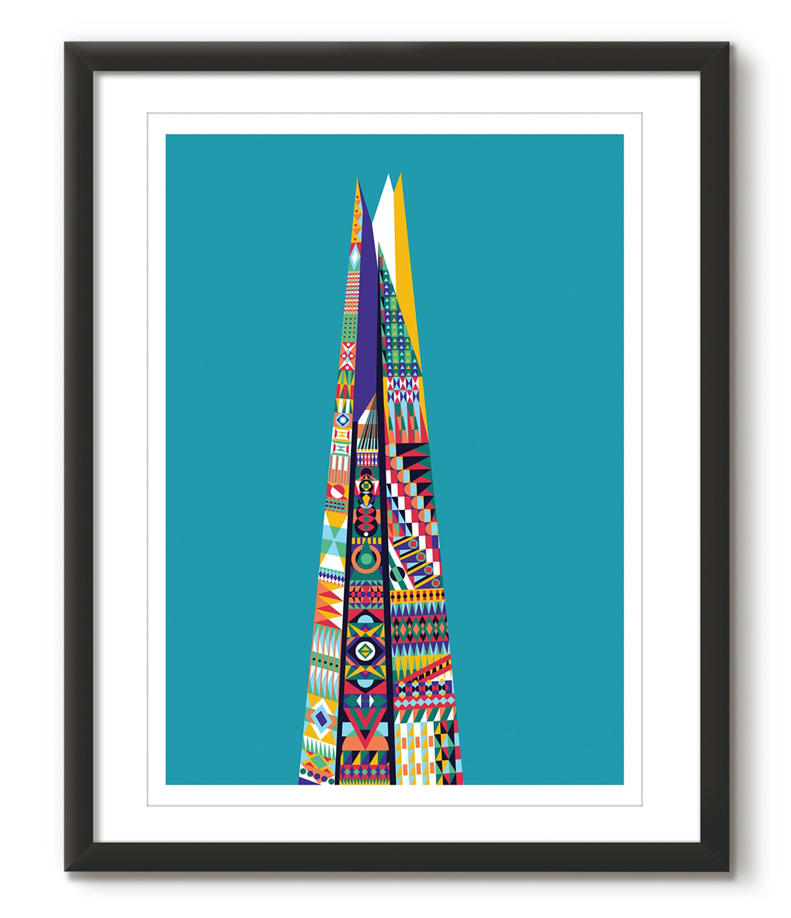 Multicoloured Shard - Lagoon Blue