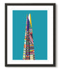 Multicoloured Shard - Lagoon Blue - Great Little Print Store