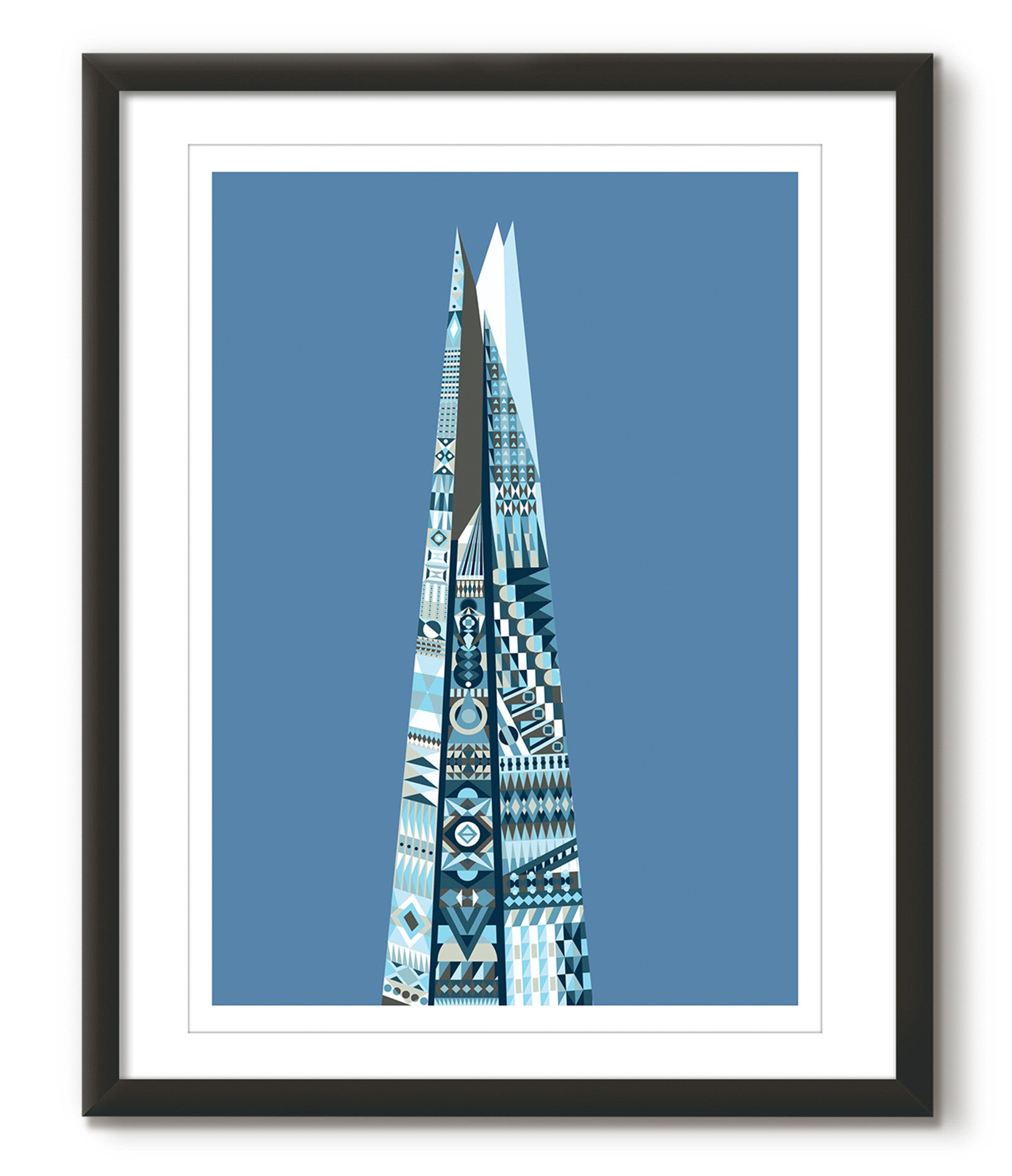 Multicoloured Shard - Blue