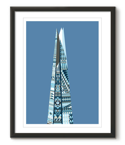 Multicoloured Shard - Blue - Great Little Print Store