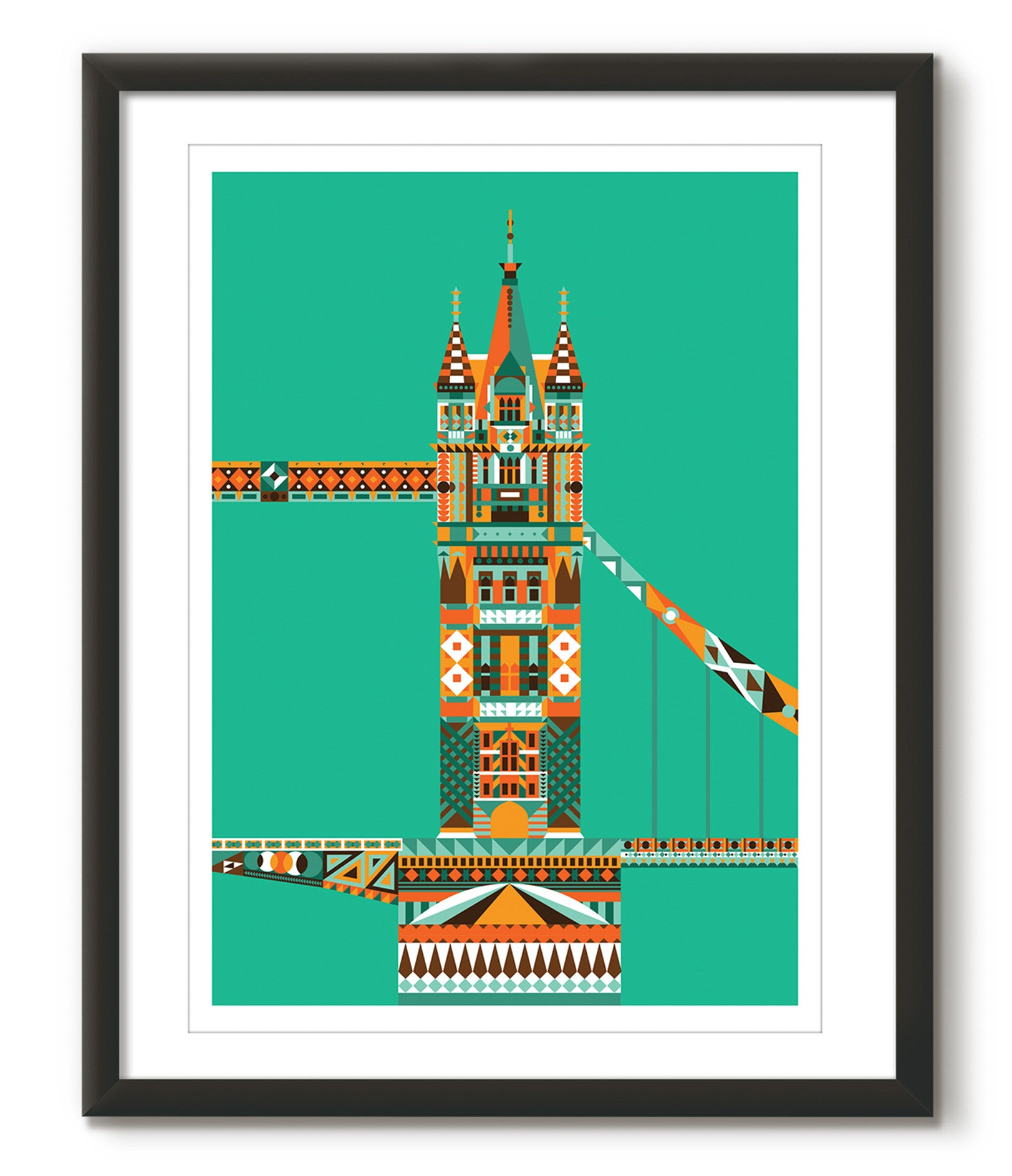Multicoloured Tower Bridge - Green