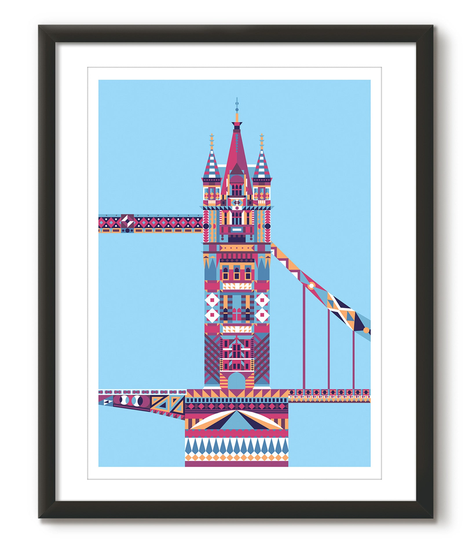 Multicoloured Tower Bridge - Blue