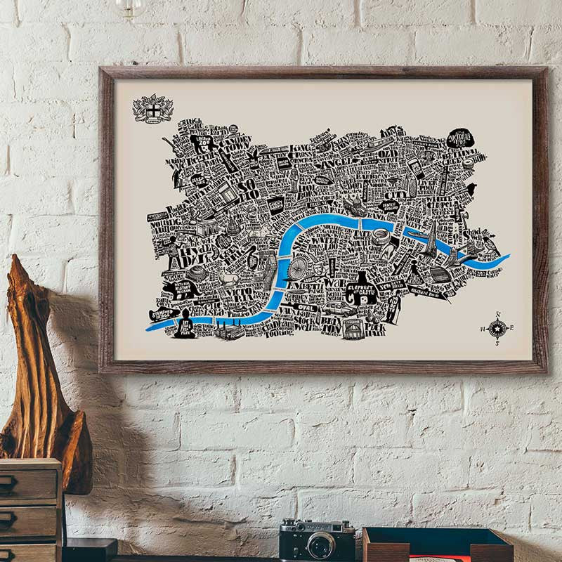 Special edition typographical map of london ivory paper great special edition typographical map of london ivory paper great little print store gumiabroncs Images