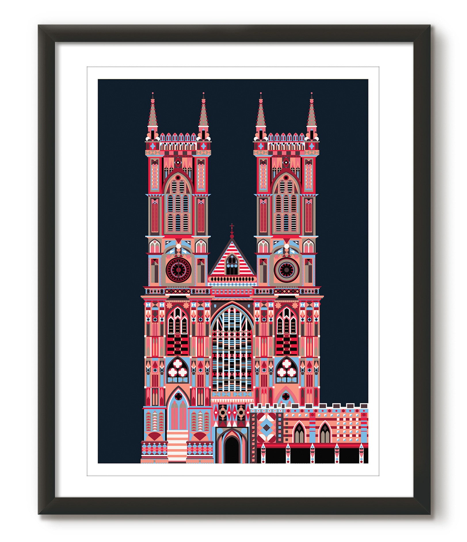 Multicoloured Westminster Abbey - Navy Blue