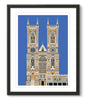 Multicoloured Westminster Abbey - Sky Blue - Great Little Print Store