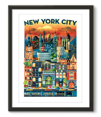 Watercolour Graphic of New York - Great Little Place Store - 1