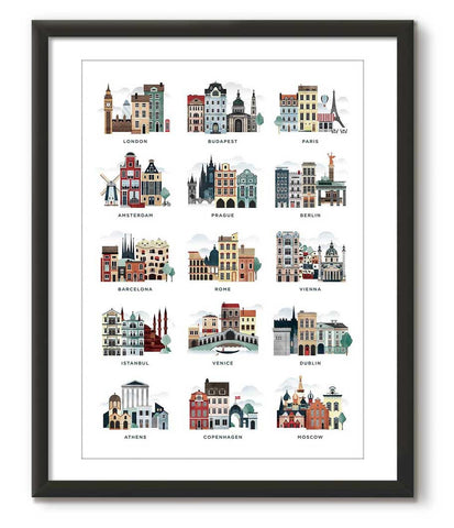 Illustrated Cities of Europe - Great Little Print Store