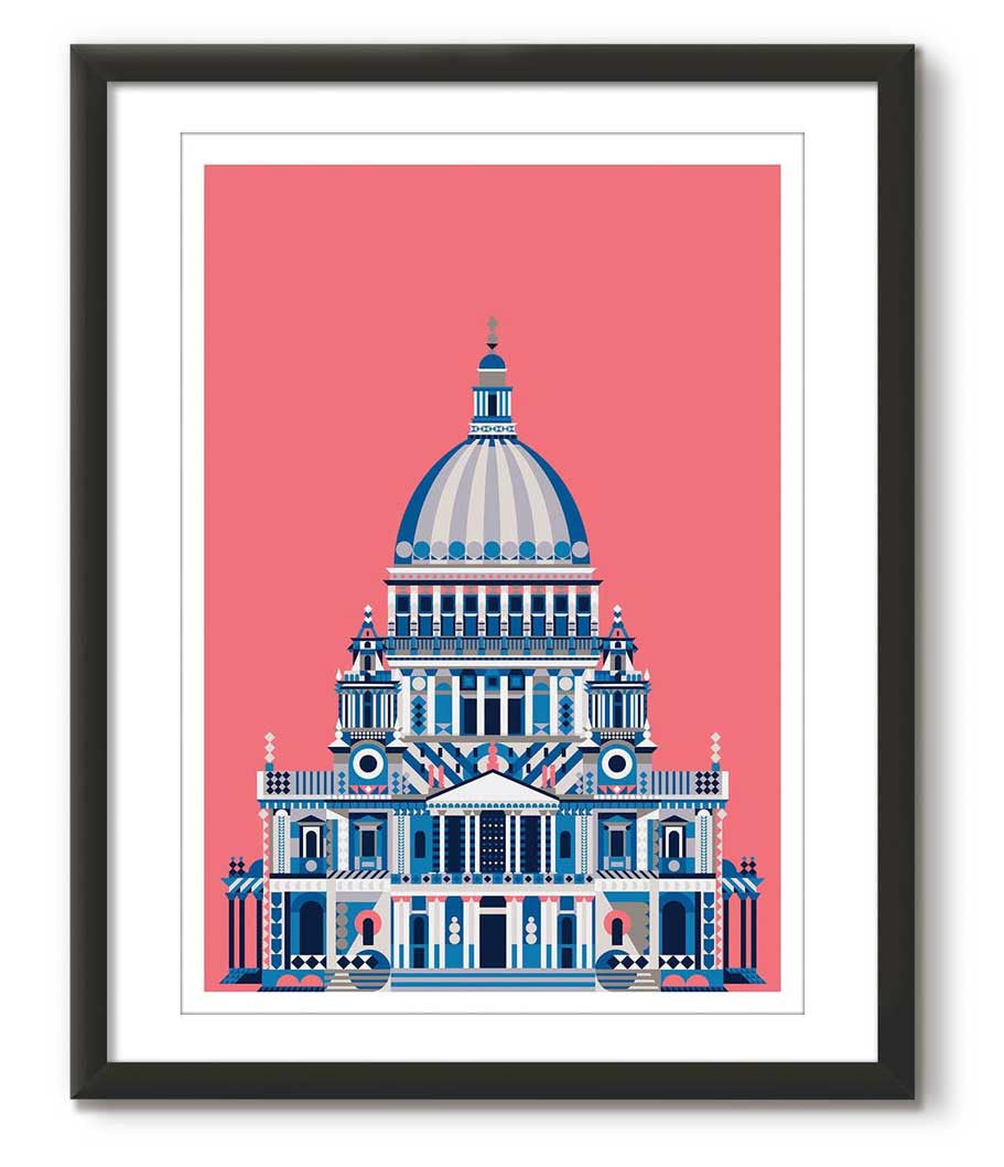 Multicolour St Paul's Cathedral - Pink
