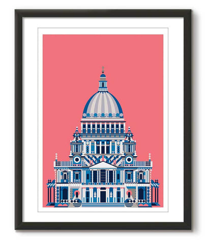 Multicolour St Paul's Cathedral - Pink - Great Little Place Store - 1