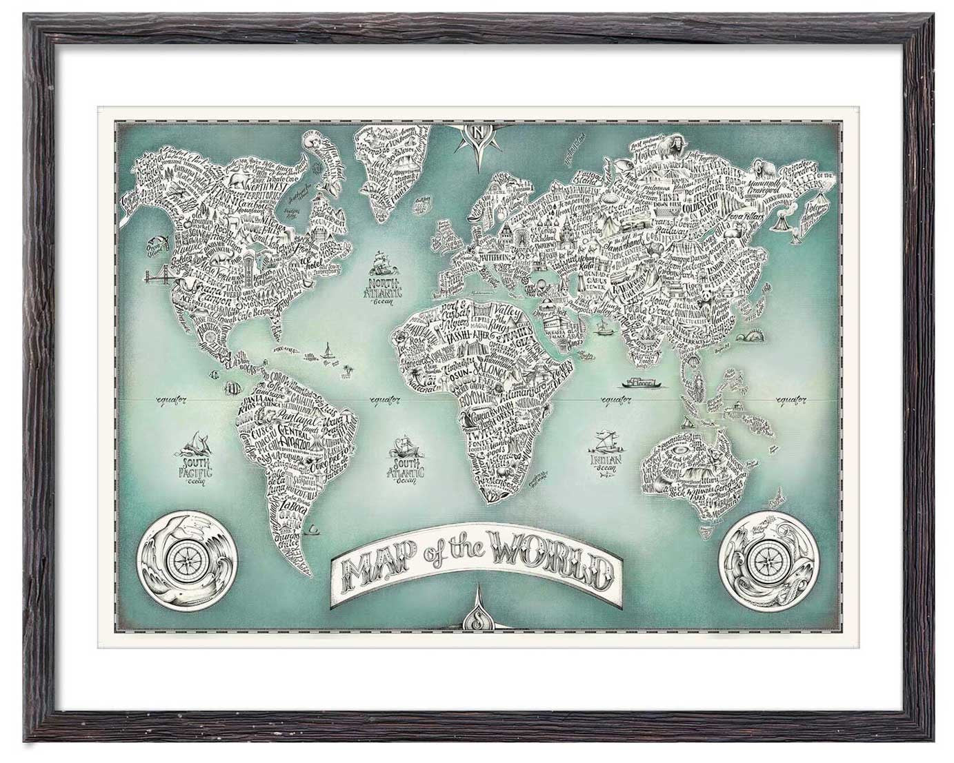 Typographical Map of the World