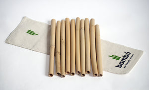Kit de popotes de bambu