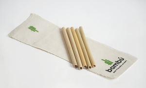 Kit de popotes biodegradables de bambu