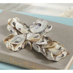 Mud Pie Oyster Shell Cross