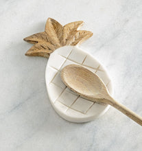Load image into Gallery viewer, Mud Pie Pineapple Marble Spoon Rest