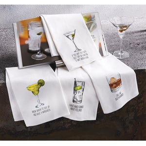 Mud Pie Drink Sentiment Towels