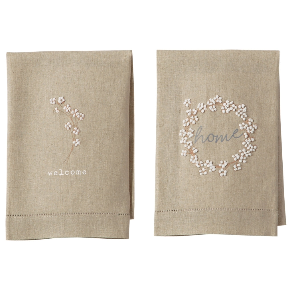 Mud Pie Cotton French Knot Towel