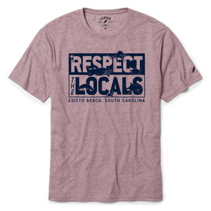 Edisto Beach Respect The Locals Reclaimed Tee