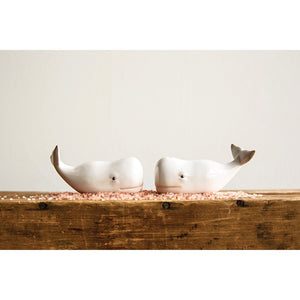 Whale Salt & Pepper Shakers