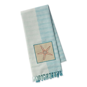 Starfish Embellished Dishtowel
