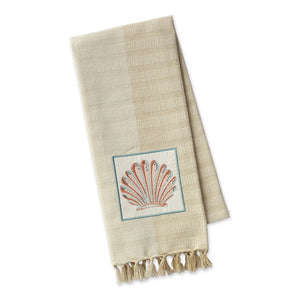 Seashell Embellished Dishtowel
