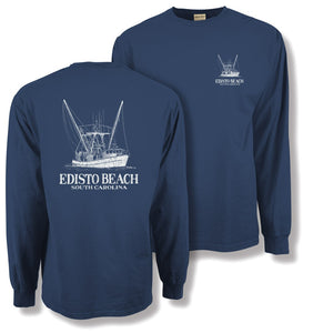 Blueprint Shrimp Boat Long Sleeve Tee