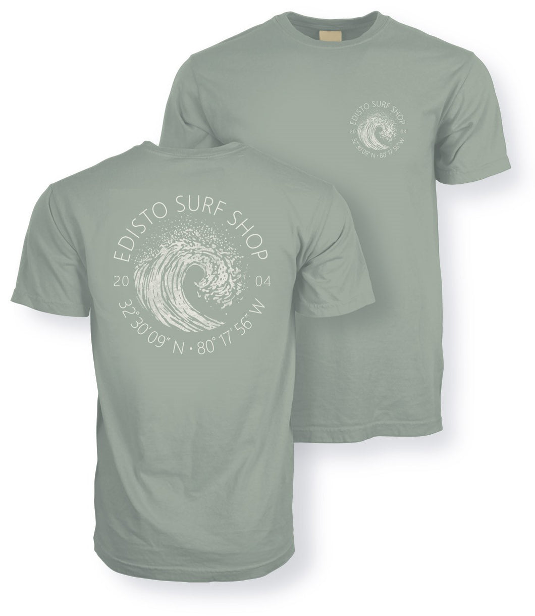 Edisto Surf Shop Curly Wave Tee