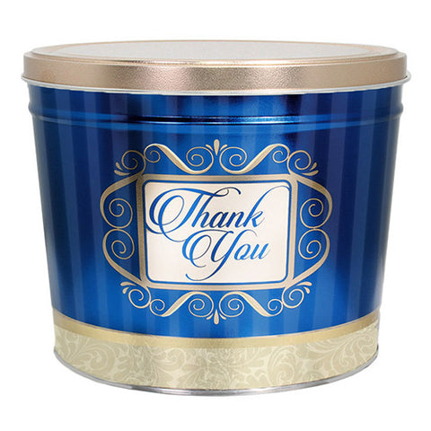 Golden Thank You Two Gallon Popcorn Tin
