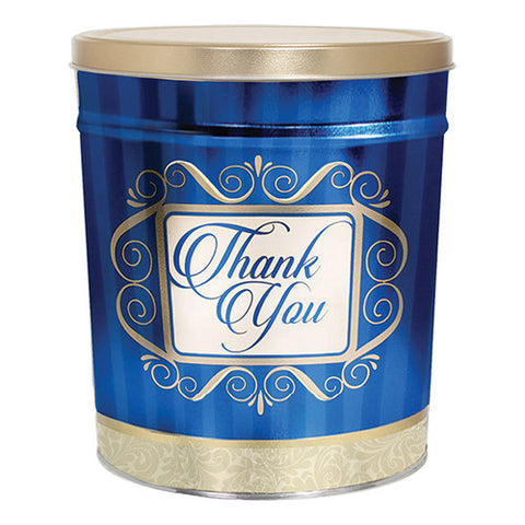 Golden Thank You Three Gallon Popcorn Tin