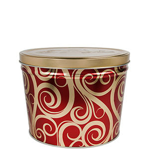 Golden Swirl Two Gallon Popcorn Tin