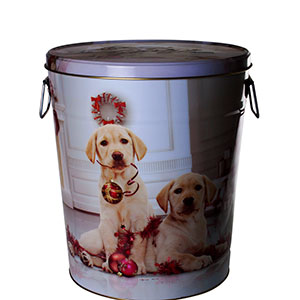 Lab Puppies Three Gallon Tin