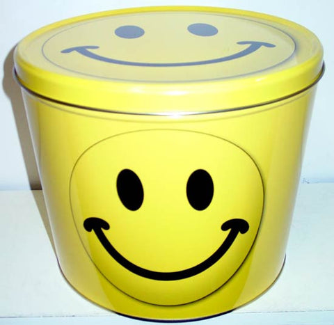 Smiley Face Two Gallon Tin