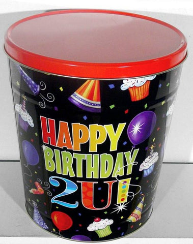 Happy Birthday Three Gallon Tin