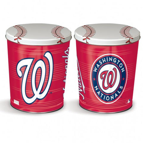 Washington Nationals Three Gallon Popcorn Tin