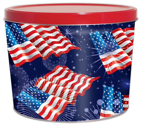American Fireworks Two Gallon Popcorn Tin