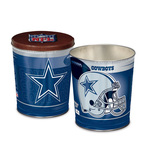 Dallas Cowboys Three Gallon Popcorn Tin