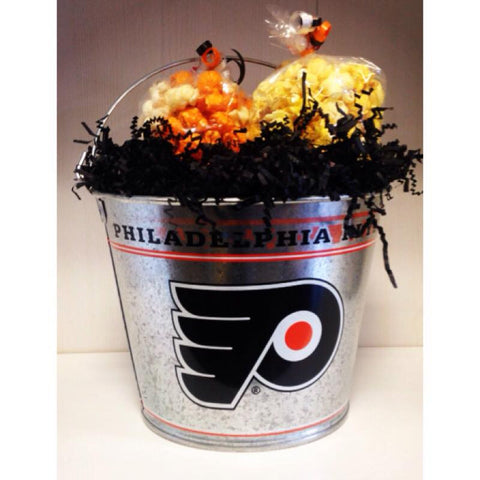 Philadelphia Flyers Five Quart Galvanized Popcorn Pail