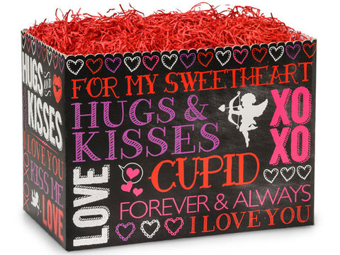 Hugs And Kisses Chalkboard Large Box
