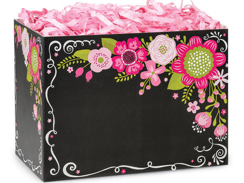 Chalkboard Flowers Large Popcorn Box