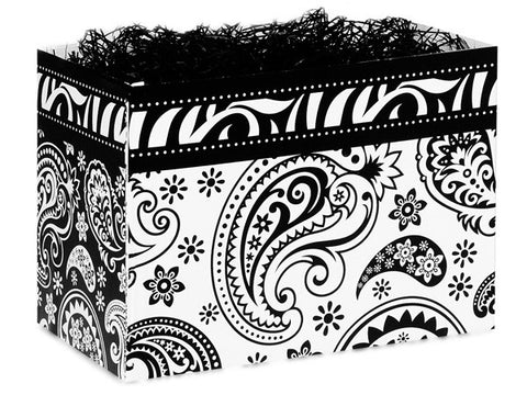 Paisley Flourish Black Large Popcorn Box
