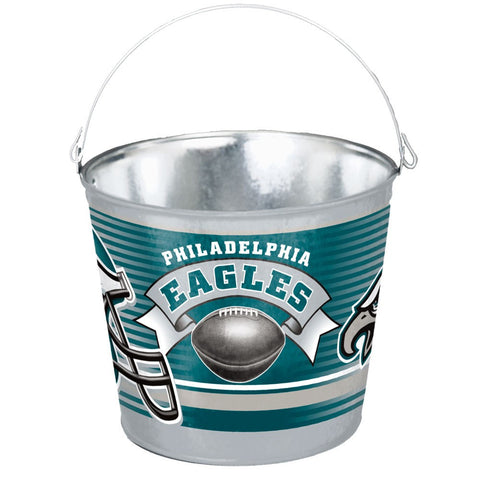 Philadelphia Eagles Five Quart Galvanized Popcorn Pail