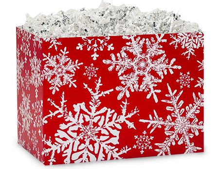 Christmas Snowflakes Red Small Box